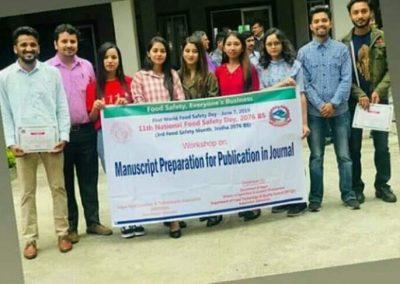 Nagarik Students participating in Manuscript Preparation Workshop
